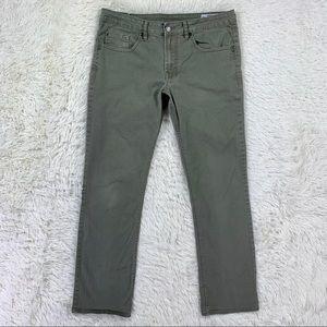 Men's Buffalo Slim Straight Army Green Jeans 32x32